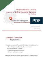 2010 U.S. Wireless Mobile Analysis by Crimson Hexagon