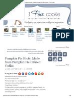 Pumpkin Pie Shots