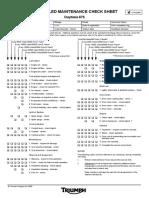 Daytona 675 Service Schedule