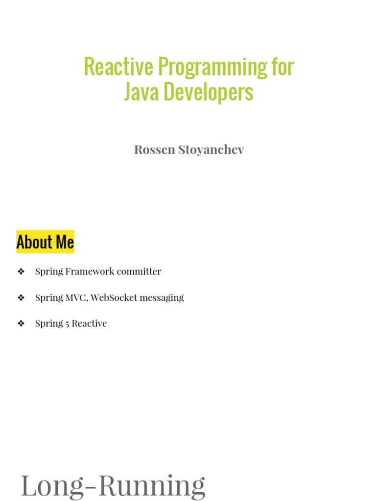 Reactive programming for java developers spring framework reactive programming for java developers spring framework application programming interface baditri Images