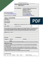 edinburgh exam application form
