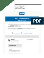 AFCONS Infrastructure Ltd - RMA Details