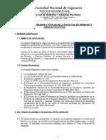 Reglamento de Grados y Titulos Derecho
