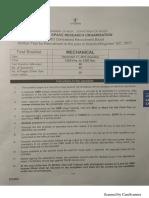 ISRO Exam Analysis - Mechanical