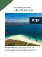 10 Destinasi Wisata Indonesia Terbaik