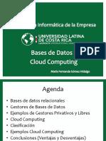 Bases de Datos y Cloud Computing María Fernanda Gómez