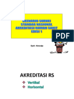 Dr. Djoti Atmodjo SpA - Skenario Survei Akreditasi Dng SNARS 1