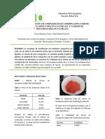 SINTESIS DE LOS COMPLEJOS DE DE COORDINACIÓN CLORURO DE CLOROPENTAAMINO COBALTO [CoCl(NH3)5]Cl3 Y CLORURO DE HEXAMINOCOBALTO [Co(NH3)6]Cl3.