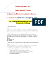 Test Bank Legal Environment Today 8th Edition