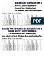 Clases Particulares Julio Otero Version Universidad