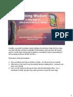 Seeking Wisdom in the Age of (Mis)Information & Noise - Dec 2017 (Safalniveshak.com)