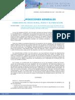 Cantabria - Orden de Vedas de Pesca Continental 2018