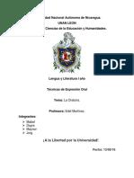 Universidad Nacional Autónoma de Nicaragua Sugestion