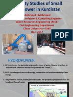 Feasibility Studies of Small Hydropower in Kurdistan