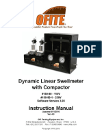 150-80 - Dynamic Linear Swellmeter - User Manual