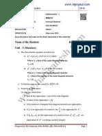 Ma6151 Formula