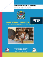 04 11 2016.Tanzania National Guideline for Management Hiv and Aids May 2015. Tagged