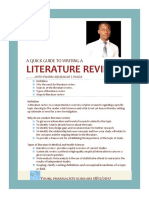 yps  quick guide to writing literature review