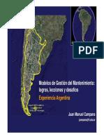Modelos Gestion Mantenimiento Experiencia Argentina
