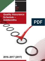 Qualityassuranceschedules Goldsmiths