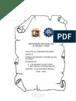 Informe Geologia Salida de Campo