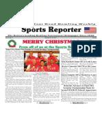 December 19 - 25, 2017  Sports Reporter