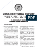 ANC 54th Conf Organisational Report