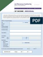 Individual - Tax Return