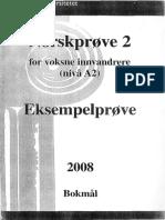 Norskprøve 2008 - Nivel A2