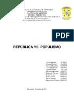 Republica vs Populismo
