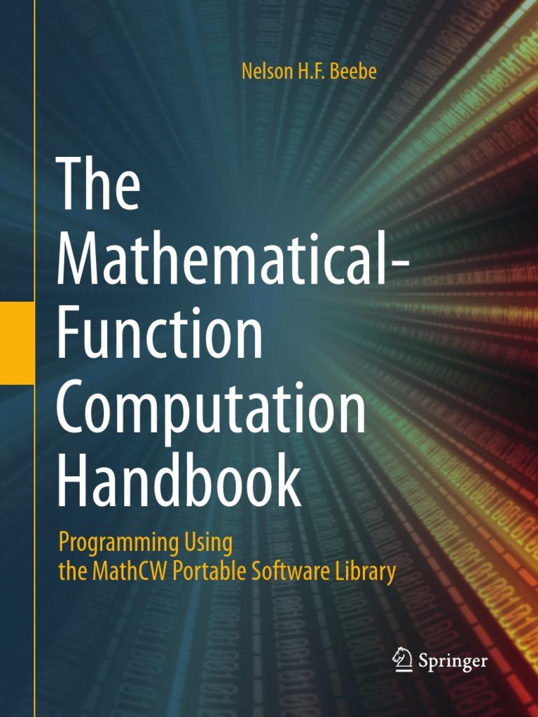 The Mathematical-Function Computation Handbook.pdf   Unix ...