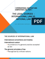1 International Law vs National Law