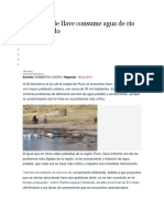 Población de Ilave Consume Agua de Río Contaminado