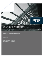Sony Corporation Market Management