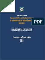 Leonardo Garcia Cuerva Tfg Diseno Grafico Programa Senaletico