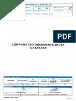 Fm-div01-Qaqc-0361 Company Iso Documents Index Database