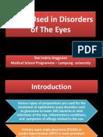 Drugs Used in Disorders of the Eyes