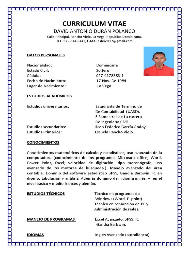 Curriculum Vitae David 22