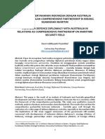 Diplomasi Pertahanan Indonesia Dengan Australia Dalam Hubungan Comprehensive Partnership Di Bidang Keamanan Maritim