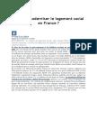 Peut-On Moderniser Le Logement Social en France