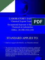 Chemical Hygiene Program example power point training
