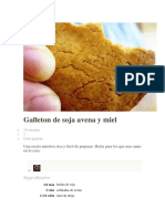 Galleton de Soja Avena y Miel