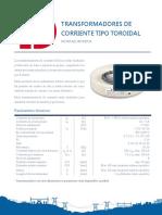 Catálogo de Transformadores de Corriente Delcrosa 2016