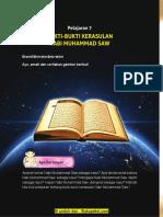 Pelajaran 7 Bukti-bukti Kerasulan Nabi Muhammad SAW