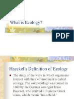 Chap 1 Ecology