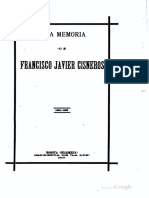 A La Memoria de Francisco Javier Cisneros, 1900, R. M. Merch