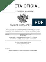 Reforma Parcial de La Ley de Division Politico Territorial Del Estado Monagas