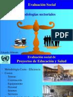 Evaluacion social Metodologías sectoriales