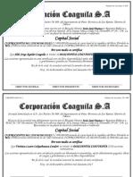 Certificado de acciones MODELO