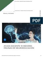 Ayuda Docente_ 10 Mejores Páginas de Neuroeducación